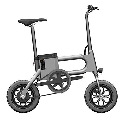 Y&WY Bicicletta Elettrica,Bicicletta A Pedalata Assistita Pieghevole E-Bike Batteria agli Rimovibile Motore 350 W, velocità Max 25 Km/H,Gray,Battery~7.5Ah