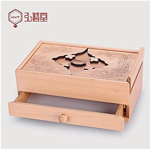 XYXY Creativo Retro in legno gioielli scatola collana della scatola di immagazzinaggio di finitura Scatole . b