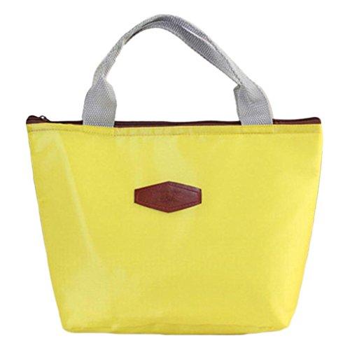 Hmeng Lunch Bag Large Neopren Isolierte Mittagessen Tote❤️ Food Holder Wiederverwendbare Frauen Lunch Box für Schularbeiten Outdoor Travel Picknick (Gelb) -