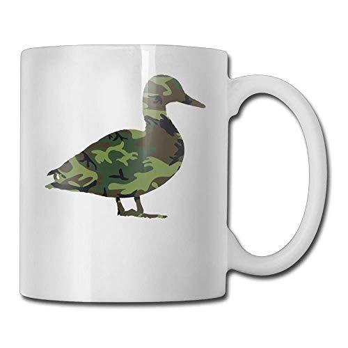 Coffee Mugs Birthday Camo Duck Ceramic Tea Cup -