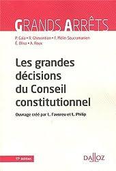 Les grandes décisions du Conseil constitutionnel - 17e éd.
