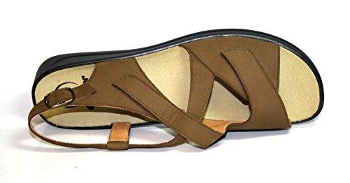 Ganter Monica 3-20 2582 Damen Schuhe Sandalen, Weite G Braun (Tundra)