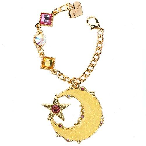 CoolChange goldfarbenes Sailor Moon Kettchen mit großem Mond Anhänger