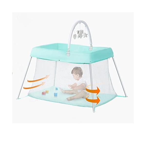 Baby HTTMYY Portable Folding Crib Children Multifunctional Double Layer Travel/Game Bed Baby Size:Game bed inner diameter:1020*600mm;Second floor bed inner diameter: 730*410mm;Folding Size: 600*520*180mm Style: Simplicity, Functions: Portable, foldable, Applicable crowd: 0-2 year old Hammock eccentric zipper design sleek without edges and corners to prevent the baby clip feet clip finger 3