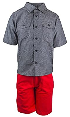 American Hawk Boys AH Logo Grey Shirt & Red Shorts Set Sizes from 12 Months to 6 Years : everything £5 (or less!)