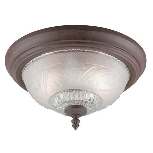 westinghouse-6431600-two-light-flush-mount-interior-ceiling-fixture-sienna-finish-with-embossed-flor