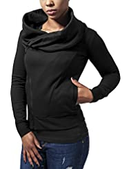 Urban Classics Ladies Asymetric Zip Jacket, Sweat-Shirt Femme