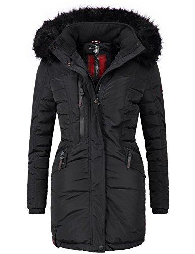 Navahoo Damen Mantel Wintermantel Steppmantel Eliya (vegan hergestellt) 7 Farben + Camouflage XS-XXL 3