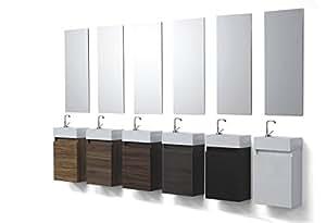 Wunderbad Gäste-WC Badmöbel Waschbecken mit Unterschrank