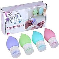 Angelbubbles Viaggio Bottiglia Dosatori per sapone liquido Ricarica pesca contenitori 4 Colore /