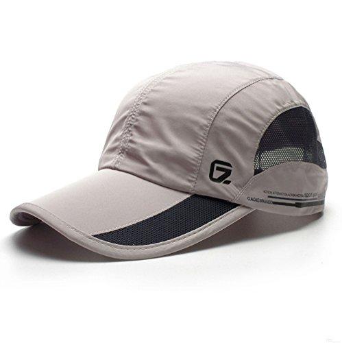 GADIEMKENSD Quick Dry Sports Hat Lightweight Breathable Soft Outdoor Run Cap (Classic...