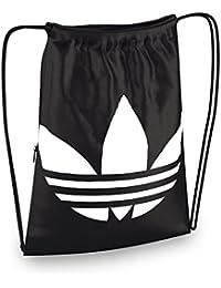 adidas Gymsack Trefoil - Bolso unisex, color negro / blanco, talla NS