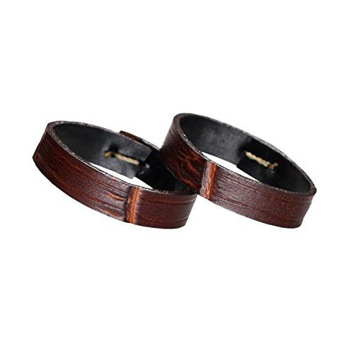 Breitling-mann-uhren Verkauf (High-Level-braun italienische Lederschlaufe Keeper für Uhrenarmbänder Krokodilkorn 14mm (2 Stück ein Satz))