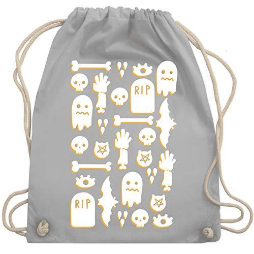 (Halloween - Halloween Totenkopf Mosaik - Unisize - Hellgrau - WM110 - Turnbeutel & Gym Bag)