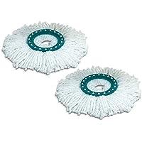 Leifheit Set di 2 testine di Ricambio per lavapavimenti, Fibra icro, Bianco, Taglia Unica