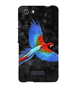 PrintVisa Flying Parrot 3D Hard Polycarbonate Designer Back Case Cover for Micromax Unite 3 Q372 :: Micromax Q372 Unite 3