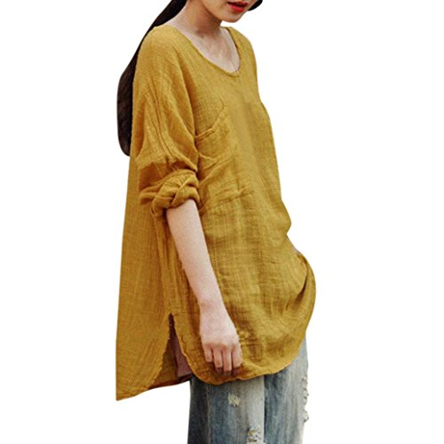 Tops Damen Oberteile DOLDOA Langarm Sweatshirt Pullover T-Shirt Bluse Übergroßer (T-shirt Glühen Dunkles Sie)