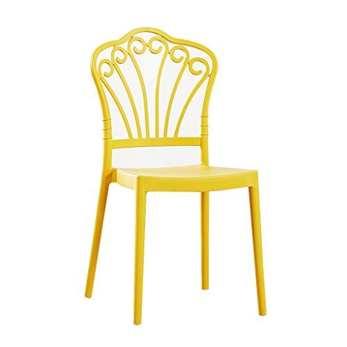 LXQGR Plastikgartenstühle, PP-Ergonomische Rückenlehne-Modern Einfacher Stil, Plastikgartenstuhl mit niedriger Rückenlehne Stapelbarer Patio Outdoor Party Sitz Stühle Picknick (Color : Yellow)