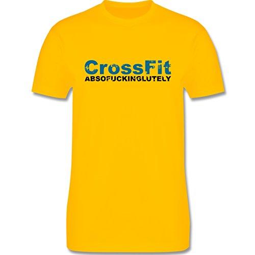 CrossFit & Workout - CrossFit Absofuckinglutely - Herren Premium T-Shirt Gelb