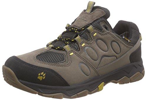 Jack Wolfskin MTN ATTACK 5 TEXAPORE LOW M, Herren Trekking- & Wanderhalbschuhe, Beige (mustard seed 4057), 40.5 EU (7 Herren UK)