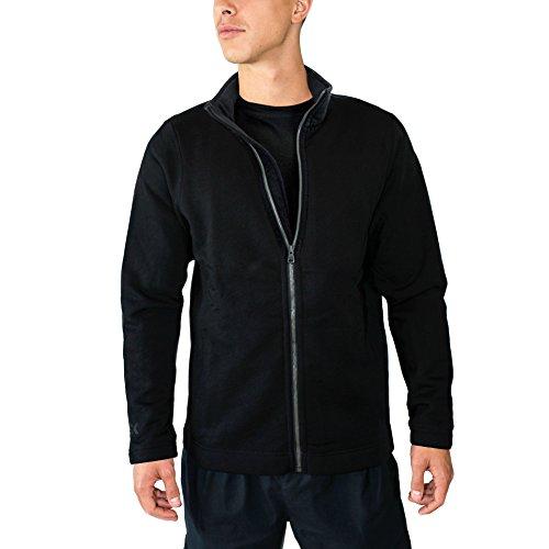 Woolx Men's Merino Wool Sweatshirt Jacket - 100% Merino Wool - Extremely Warm