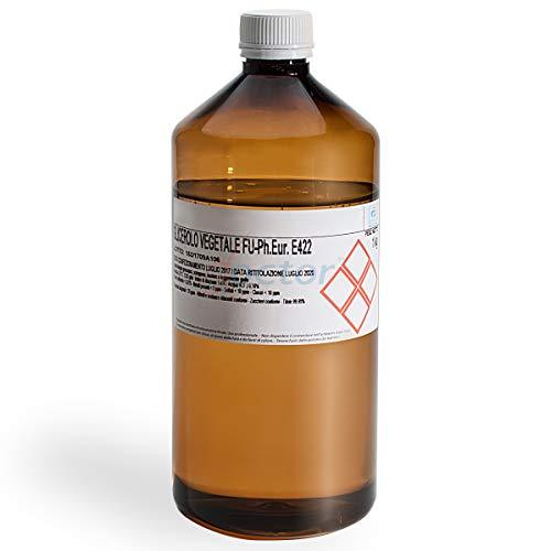 AIESI Glicerina Vegetale F.U. pura grado FARMACEUTICO flacone da 1 kg  Glicerolo puro liquido
