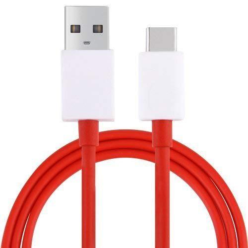 DUX DUCIS Câble pour Oneplus 7T / 7T Pro / 7 / 7 Pro / 6T / 6 / 3 / 3T / 5 / 5T, Câble de Données USB Type C Câble de Charge Rapide (Red)