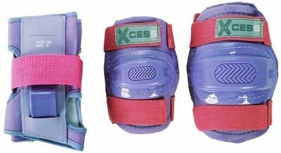 Childs Xcess Combo Schutz-Set für Kinder mit Knieschonern, Ellbogenschützern und Handgelenkschonern, Lila