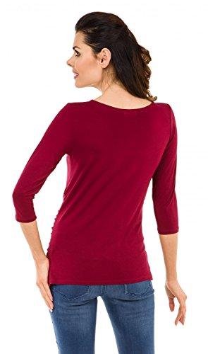 Zeta Ville Maternité - Tee shirt de grossesse motif humour imprimé - femme 548c Cramoisi