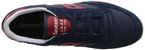 Saucony Jazz Low Pro, Sneaker Uomo Blu (Navyred)
