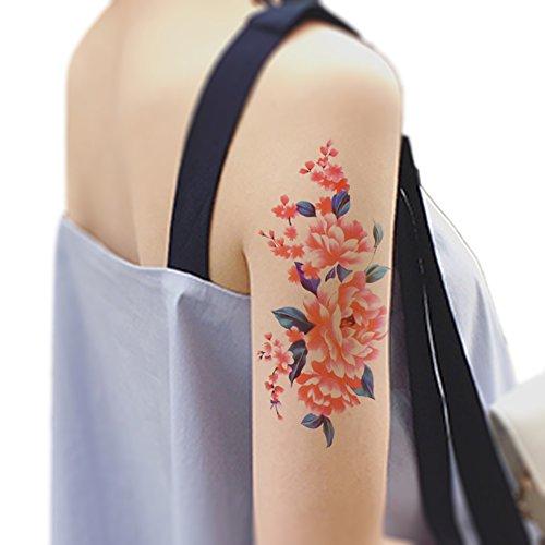 tafly-femmes-et-filles-bras-fleur-tatouage-temporaire-rouge-pivoine-corps-art-transfert-tatouages-5-