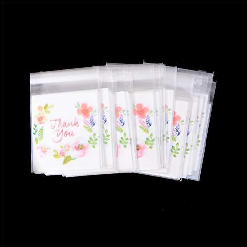 Geschenktüte, 20 x 30-100 Stück, 10 x 10 cm, selbstklebende Dankeskarten für Kekse, Geschenktüte - Tüte für Geschenke, Party, Dankeschön, Dankeschön, Geburtstag
