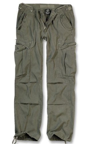 Brandit M65 Ladies Pantaloni Donna Pantaloni Cargo B-11001 - cotone, OLIV, 100% cotone, Donna, 28W