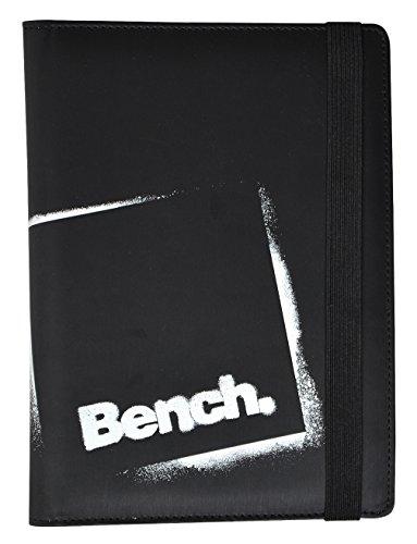 Stand Tablet Case (Bench Universal Folio Schutzhülle Flip Case Cover mit Verschlusslasche und Integrierter Standfunktion für 8 Zoll (20,3cm) Tablets - Schwarz)