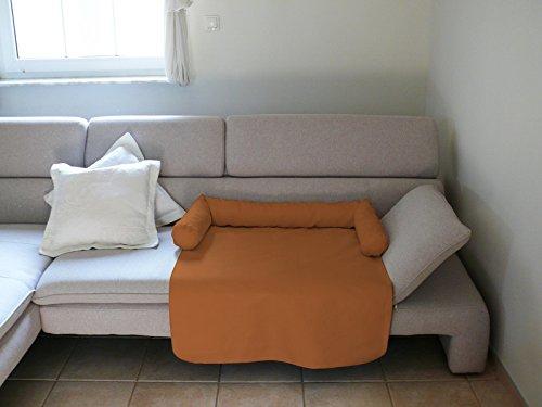 Artur Soja Mila Schlafplatz Hundebett Couch Sesselschutz Sofaschutz Alcantara Größen: S-XL (S - 65x75cm, ORANGE) -