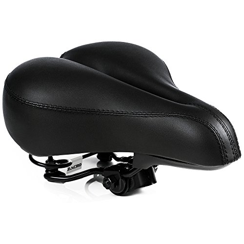 Zacro Bike Saddle - Black Bicycle Saddle with One Mounting Wrench - Cycling Seat Cushion Pad