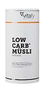 Vitafy Essentials Low Carb Müsli Frucht, 1er Pack (1 x 525g)