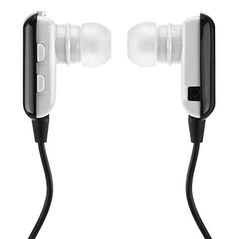 deleyCON Bluetooth In Ear Headset Kopfhörer Ohrhörer - [Schwarz] - Stereo - für Handy, PC, Tablet, iPhone, Smartphone, Apple