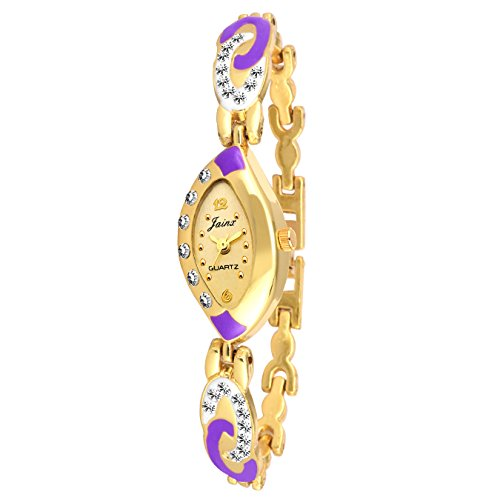Jainx Golden Dial Analog Watch For Women's – JW554 image - Kerala Online Shopping