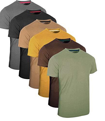 Full Time Sportsš 3 4 6 Pack Assortiment de Hauts dŽcontractŽs Langarm -, Kurzarm - Pack Multiple T-Shirts Rundhals, 6 Pack - Vintage Assorted, 3XL