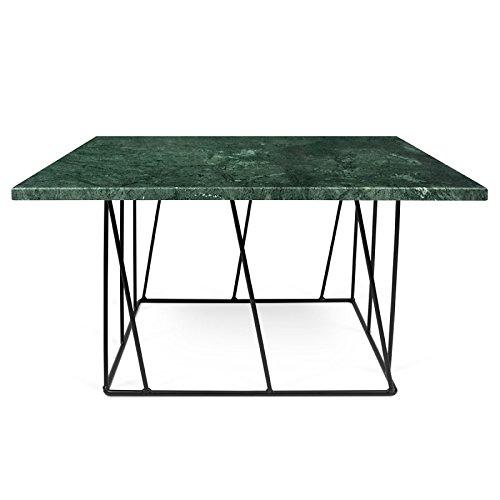 Paris Prix - Temahome - Table Basse Helix 75cm Marbre Vert & Métal Noir
