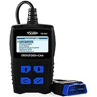 OBD2 Diagnosegerät Auto Tvird Universal Diagnose Scanner für alle Fahrzeuge ab 2000 mit OBD II Protokolle/standardem 16-pin OBD-II Schnittstelle/Batterietest EOBD Code Reader