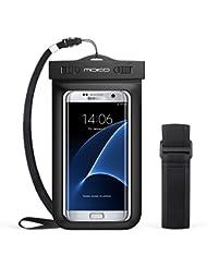 MoKo Funda Impermeable - Waterproof Brazo y Cuello Compatible para iPhone 7/ 7 Plus/ iPhone 6s/ 6s Plus/ Galaxy S7/ S7 Edge/ P7 P8 P9 y Smartphone 5.7 Pulgadas - IPX8 Certificado, Negro