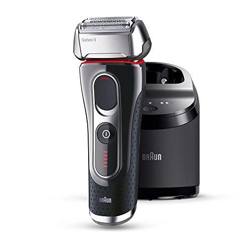 Braun 5090 Serie 5 - Afeitadora con cabezal basculante, cuchillas Power Comb, lámina Smart Foil, sistema de afeitado en 3 fases, color negro