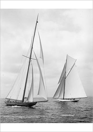 fine-art-print-of-shamrock-ii-and-columbia-maneuvering-for-the-start-oct-1-01