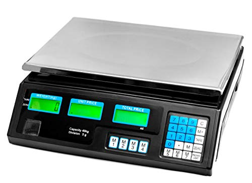 JeVx Bascula Digital Comercial hasta 40 Kilos 2 EN