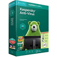 Kaspersky Anti-virus 3PC 1Year version 18, Windows 10/8/8.1, Windows Based Desktop & Laptops Smart phone with free Mobile security