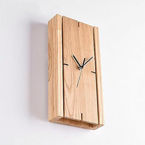GNOW Wandleuchten Tischleuchten Kreatives Schlafzimmer Mit Uhr Silent Bedside Dekoration Tischleuchten Led Silent Wand Hängeleuchten, Uhr (Schwarz Rocker-uhr)