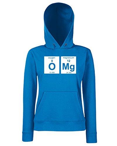T-Shirtshock - Sweats a capuche Femme FUN0298 12 28 2012 OMG Elements T SHIRT det Bleu Royal
