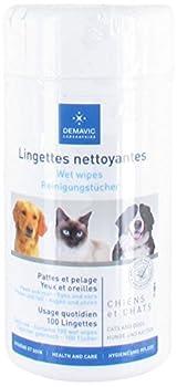 Demavic Pack de 100 Lingettes Nettoyantes pour Chien/Chat